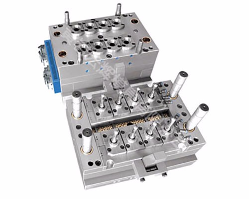 8 cavities justable self lock pneumatic valve-type preform mould